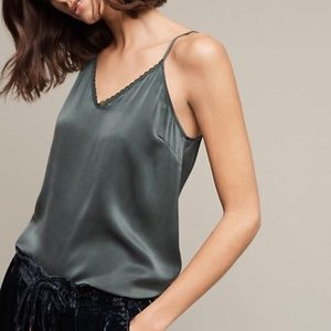 Anthropologie Silk Lace Camisole
